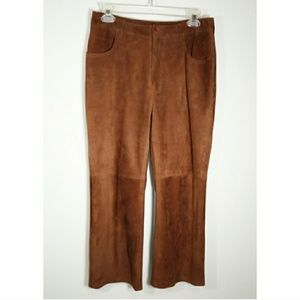 Faconnable buttery soft goatskin leather pants 6.…